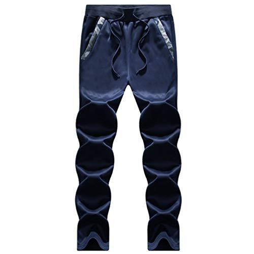 Addensare Set Due Blu Lunghi Cappuccio Camuffamento Coulisse Cerniera Yuanu Pantaloni Elastica Vita Con Loose Da Tuta Scuro Sportivi Casual Grandi Uomo Giacca Dimensioni Pezzi Inverno xq1gYzw8