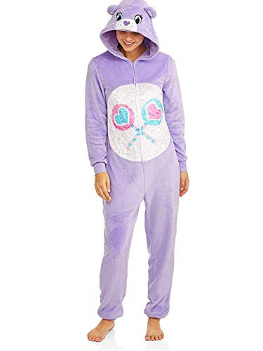 Care Bear License Women's Share Bear Union Suit One Piece Pajama Set (Large (12-14)) -