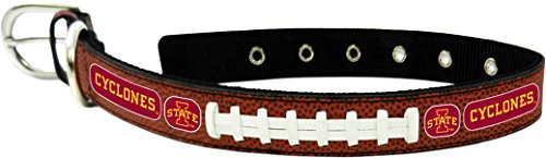 (GameWear CFB Iowa State Cyclones Classic Leather Football Collar, Small, Black)