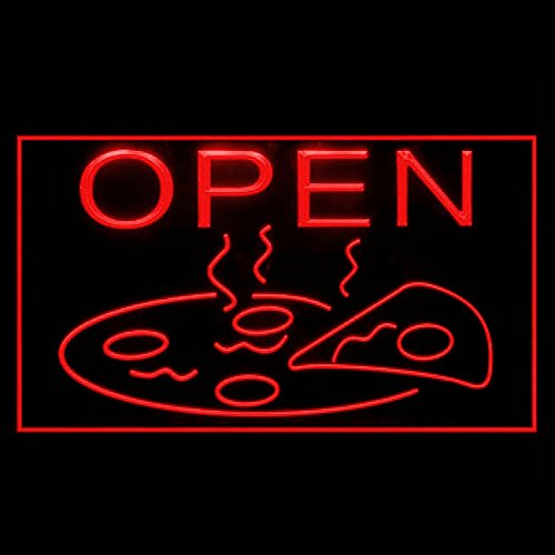OPEN hot Pizza slice Cafe BBQ Chicken Mozzarella Display LED Light Sign (Chicken Mozzarella)
