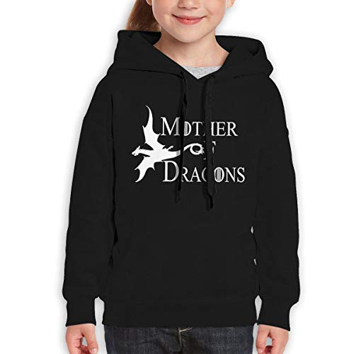 Onetwoonethree Youth Mother of Dragons Game of Thrones Season 7 Fashion Sweater for Boys and Girls 29 Black