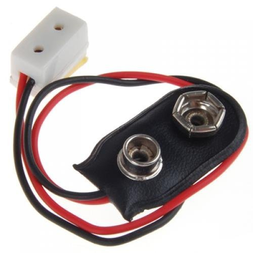 SODIAL(R) Dollhouse Miniature 9V Battery Connector w/ Wire and Single Receptacle (Miniature Connectors)