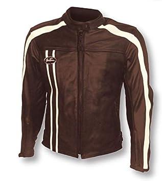 MITSOU chaqueta moto Vintage Hombre, Marrón, talla M: Amazon ...
