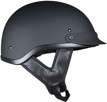 Flat Black, Medium Fuel Helmets SH-HHFL65 Unisex-Adult Deluxe Shorty DOT Approved Motorcycle Half Helmet