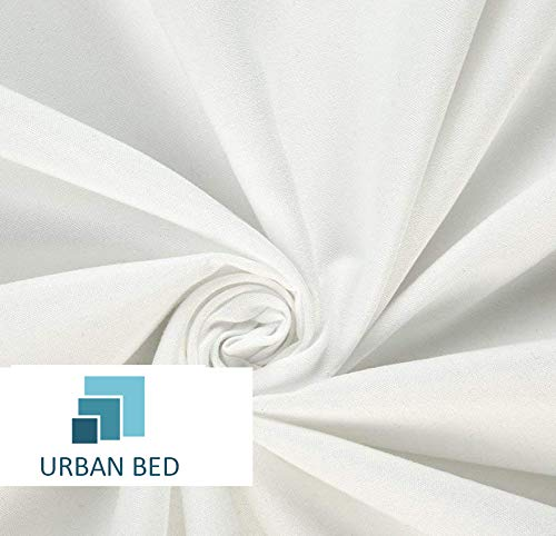 Urban Bed Brushed Microfiber 18 Inch Drop Extra Long Bedskirt Pleated and Split Corner - Queen White Solid by Urban Bed (Image #4)
