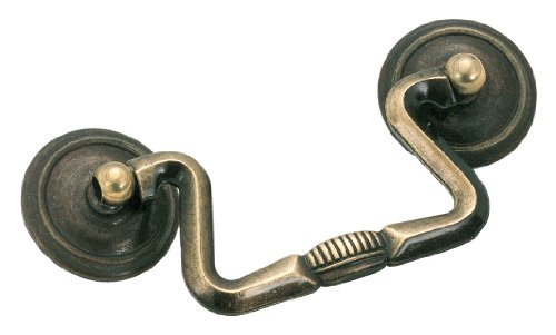 Antique Brass Drop Pull (Amerock BP876AE Allison Value 3 in (76 mm) Center-to-Center Antique English Cabinet Pull)