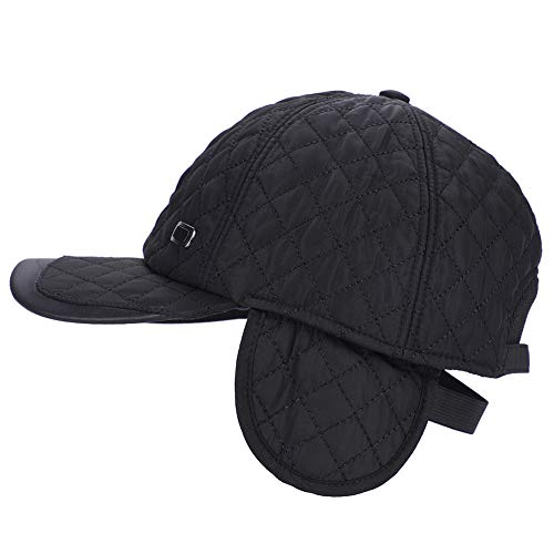 LONTG Men's Winter Baseball Cap Hat with Ear Flap Adjustable Casual Sport Cap ()