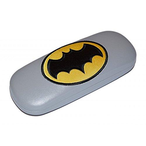 Batman Étui à lunettes pour enfant avec charnière en métal en noir ou gris noir gris