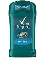 Degree Men Antiperspirant Deodorant odor and sweat protection Cool Rush 48 hour 2.7 oz 6 count