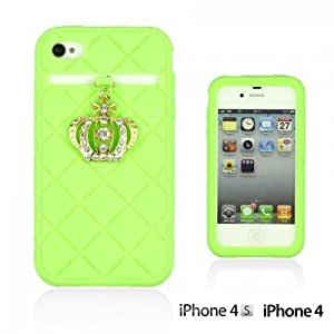 Crown Style Soft Silicone For SamSung Note 2 Case CoverGreen
