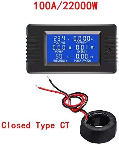 LXH-SH Voltmeter 100A Mini Digital Voltmeter Ammeter Power Energy Frequency Tester 6 Parameters Display AC 80-260V With Overload Alarm digital voltmeter