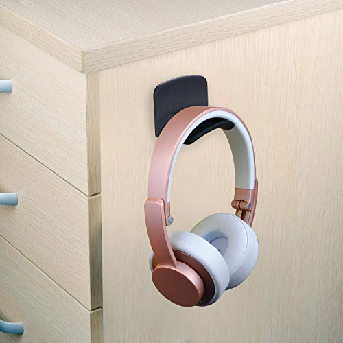 Neetto Headphone Hanger Holder Wall, Headset Hook Under Desk, Universal Stand for Sennheiser, Sony, Bose, Beats, AKG, Audio-Technica, Gaming Controller, Cables, Gamepad - HS907.