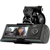 PYRUS R300 2.7 Screen 5MP Dual Camera Car Blackbox DVR with GPS Logger and G-Sensor