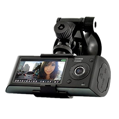 2.7inch LCD Vehicle Car Dashboard DVR Camera Video Recorder Dual Lens GPS Logger - 5