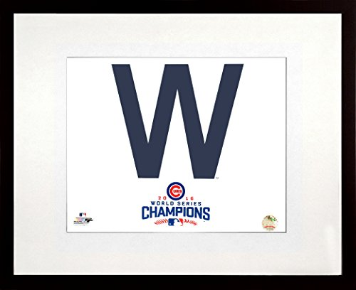 Chicago Cubs 2016 World Series Champions Cubs Win Flag 11x14 Photograph (SGA Value Series) Framed