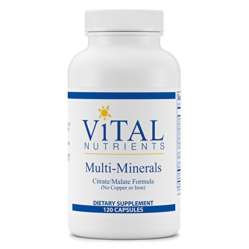 Vital Nutrients - Multi-Minerals - Citrate/Malate Formula (No Copper or Iron) - 120 Capsules Mineral Supplement 120 Capsules