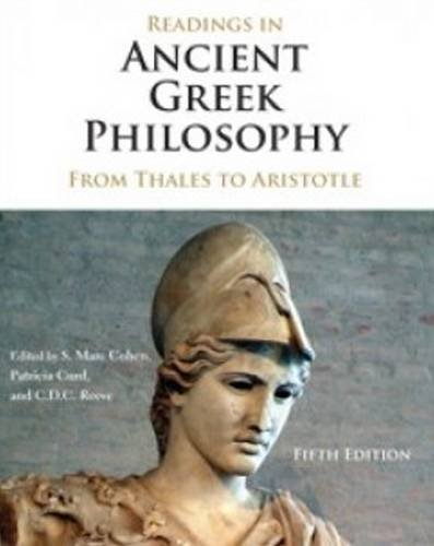 Readings in Ancient Greek Philosophy: From Thales to - Cd Reading