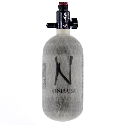 Ninja Carbon Fiber HPA Tank - 45/4500 - Grey by Ninja Paintball