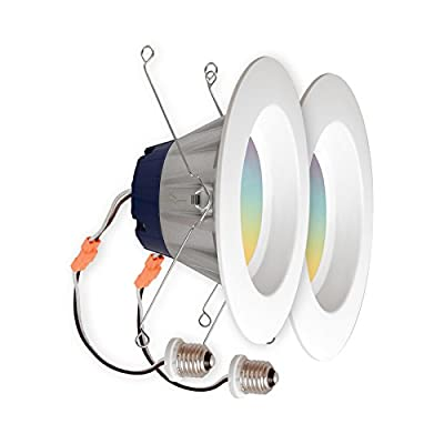 "SYLVANIA Smart+ LED Smart Home - 5"" or 6"" Recessed Connected RGBW 65W Retrofit Replacement, 13.5W - Connected (2 Pack)"