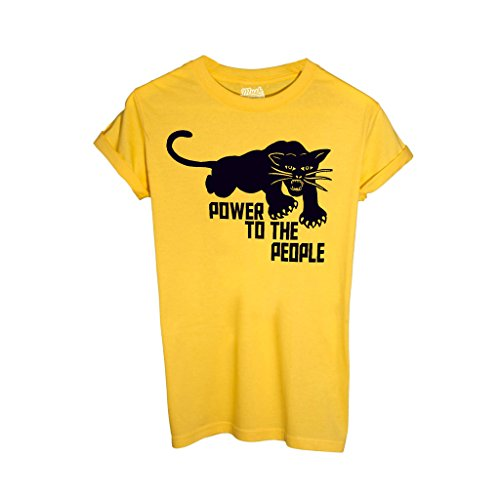 T-Shirt Black Panther Power To The People - Berühmt by Mush Dress Your Style