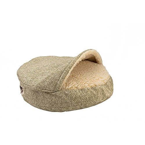Snoozer Luxury Cozy Cave Pet Bed, Large, Palmer Citron