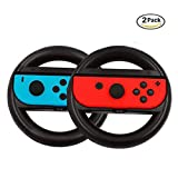 Nintendo Switch Steering Wheel { Set of 2 }, Walway Joy-Con Wheel Handle { L& R } for Nintendo Switch Controller Review