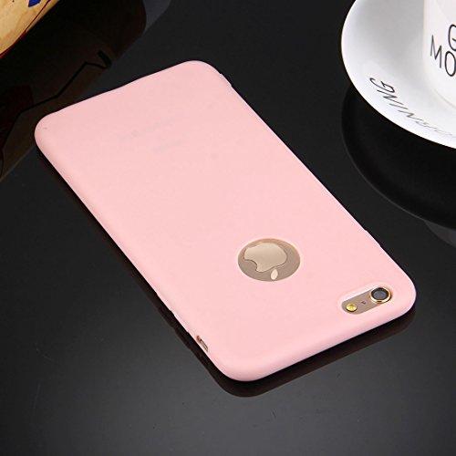 Protege tu iPhone, Para el iPhone 6 y 6s sólida caja TPU de color sólido con agujero redondo Para el teléfono celular de Iphone. ( Color : Azul Oscuro ) Rosa