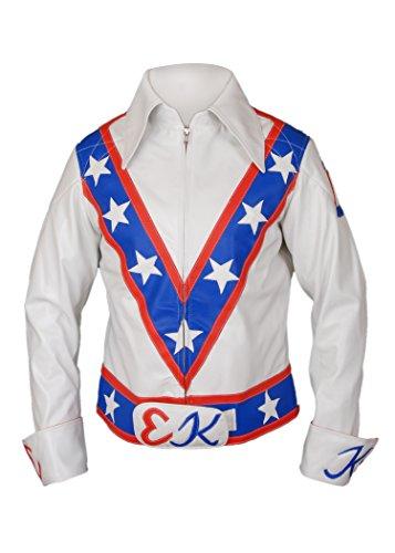 Evel Knievel Costumes (F&H Men's Evel Knievel Genuine Leather Jacket M Multi)