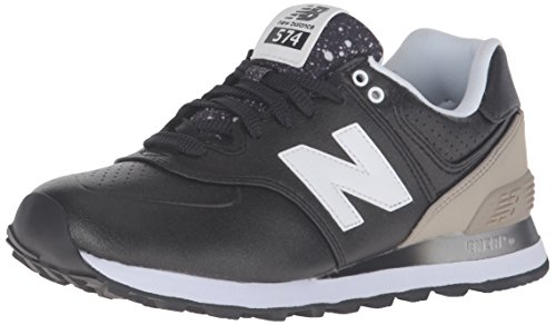 New Balance Women's WL574 GRADIANT Pack-W Running Shoe, Black/Husk, 7.5 B US (Womens New Balance 574 Gradient Casual Shoes)