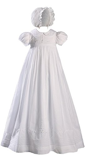 Hand Embroidered Heirloom Christening Gown with Shadow Embroidery - 12 (Heirloom Dresses For Girls)