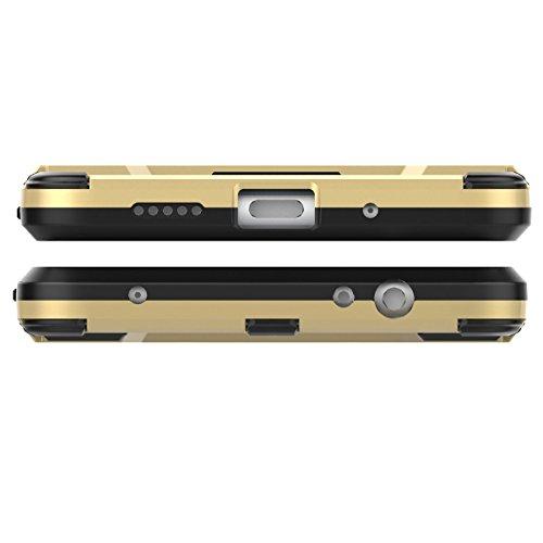 Huawei Mate 10 lite Funda,Huawei Mate 10 lite Fundas,Regalo:2.5D Vidrio Templado Protector Pantalla para Huawei Mate 10 lite,Xinyunew silicona TPU + plastico Anti Arañazos de Protectora para Huawei Ma Rojo