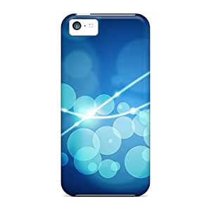 Shock-dirt Proof Bubbles Blue Case Cover For Iphone 5c