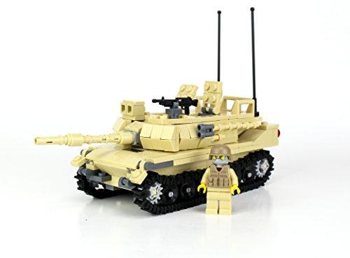Tan M1 Abrams Main Battle Tank-Battle Brick Custom Set
