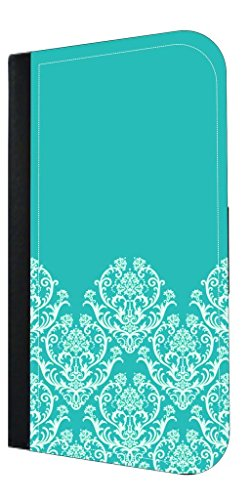 (Blue Half Damask Pattern - TM Apple iPad« mini - Versions 1,2, and 3 PU Leather and Suede Case Made in the USA)