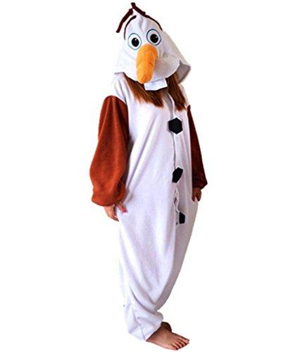 Olaf Onesie Costume (VIGEROUS Hallowee Olaf Onesie Costumes Animal Sleepsuit Pajamas Cosplay XL Olaf)