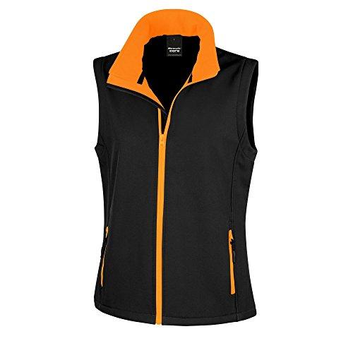 para mujer Result Chaleco Negro Core Naranja softshell pOxqx7ta