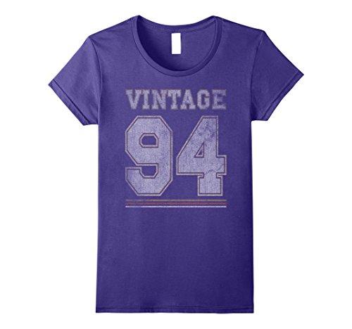Womens Vintage 94 - 24 Years Old 24th Birthday Gift Tshirt Medium Purple