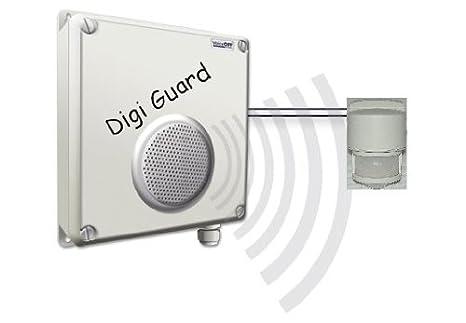 L4L - SENSOR de movimiento PIR OFF activada por Intruder de voz/AUDIO a los ladrones sistema de alarma con SENSOR infrarrojo/altavoces externos y golpes ...