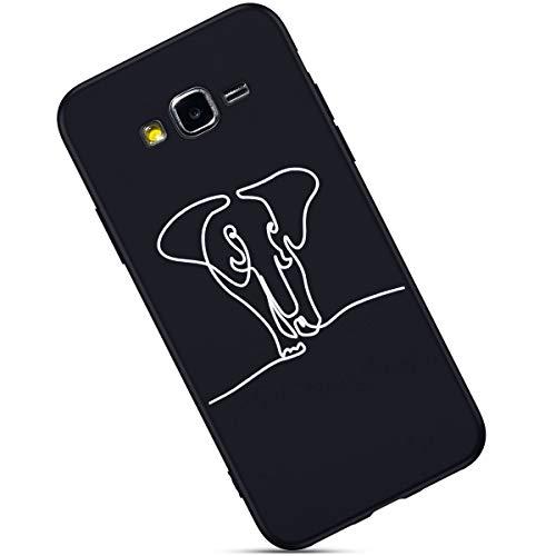 Ligne Cover rayures ultra Galaxy Prime J2 Coque Anti Defender Morechioce Compatible Amour Motif Bumper Housse Éléphant Hybrid Silicone Cool Skin Crystal Avec Protecteur Fille Rigid Mince C8wP8Hxq
