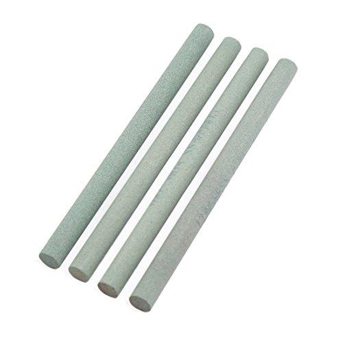 uxcell Boride Abrasives Round Rod Sharpening Grinding Oil Stone Whetstone 4 Pcs