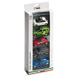 Mondo Motors 53143 Italian Style Collection - Juego de 5 coches en miniatura de juguete (escala 1:43)
