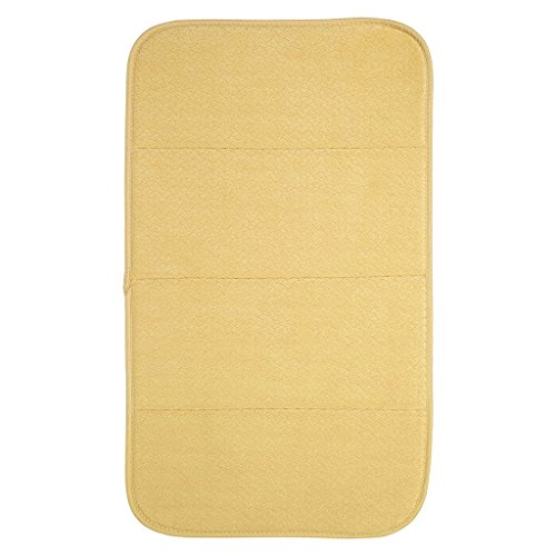 "Premium All-Clad Dual Surface, Reversible Dish Drying Mat for The Kitchen Counter, 1 Absorbent Drying Pad, 16"" x 28"", Dijon Yellow"