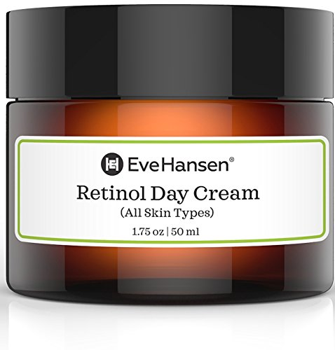Retinol Day Cream by Eve Hansen - Look Youthful With Natural Retinol Moisturizer's Anti Aging Properties. Promotes Skin Tightening And Rejuvenation. Vitamin A Cream For Fine Lines and Wrinkles. (Cream Day Rejuvenation)