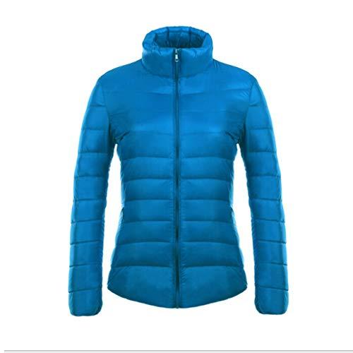 Lunga Collar 90 Slim Mxssi Piumino Blu Ultraleggero Manica Bianco Antracite Lago Donna Stand Parka HAwwqxpv