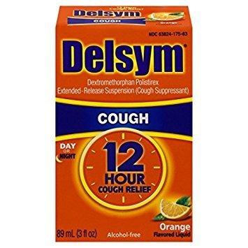 Delsym Adult Cough Suppressant Liquid, Orange Flavor, 3 oz