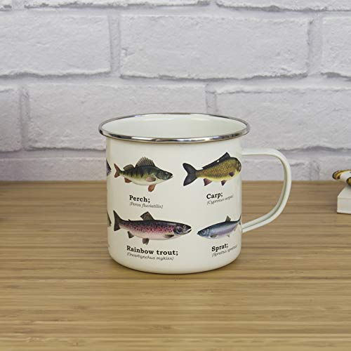 - Gift Republic GR270027 Fish Enamel Mug, Multi