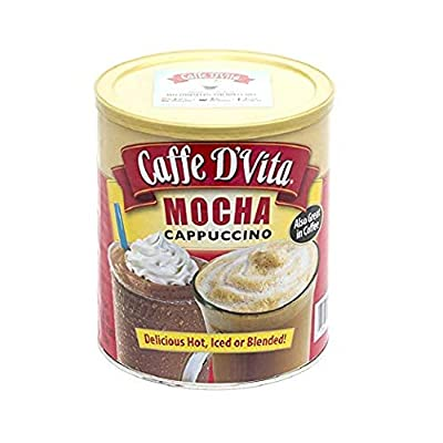 Caffe D'Vita Mocha Cappuccino 64 Oz Exclusive Hot Mocha Float Recipe Sticker from Caffe D'Vita