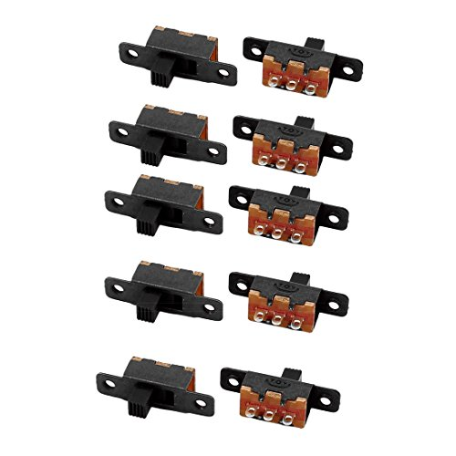 uxcell 10Pcs SS-12F16 2 Position 3P SPDT Micro Miniature Slide Switch Latching Toggle Switch
