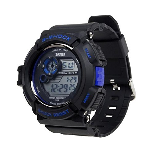 Newry Special S-Shock Multi Function Digital LED Watch Water Resistant Electronic Sports Watch—Blue by SKMEI