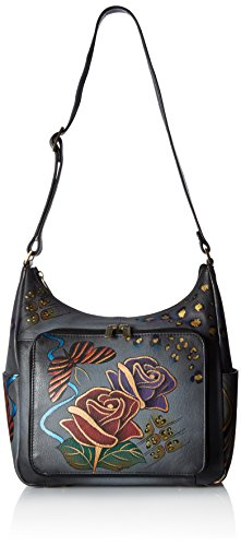 Anuschka Anna Hand Painted Leather Women'S Organizer Hobo